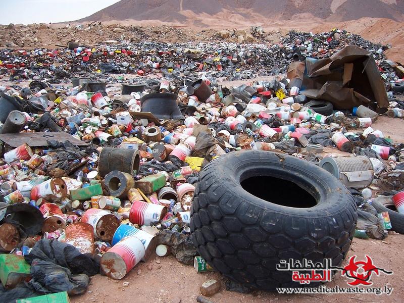 مكبات النفايات الخطرة وأراضي الواحات