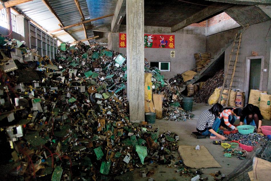 النفايات الإلكترونية في غوييو- الصين