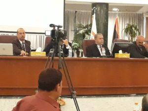 عرض مرئي ومداخلة سريعة عن الوضع الراهن لإدارة النفايات الطبية الصلبة في ليبيا بمجمع الحديد والصلب بمدينة مصراته.