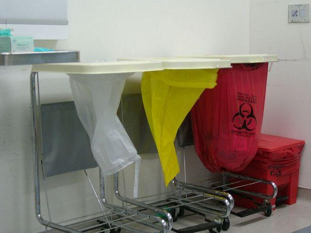 نظام عزل وفرز النفايات الطبية