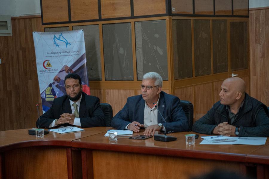 محاضرة بيئية في ورشة عمل بقاعة البلدية بمدينة زليتن - ليبيا
